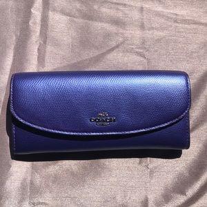Coach wallet metallic purple